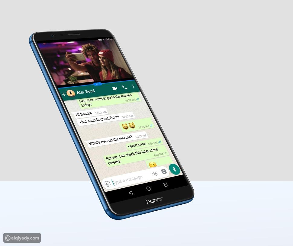 يتمتع Honor 7X بالقدرة على فصل شاشتين The split screen function