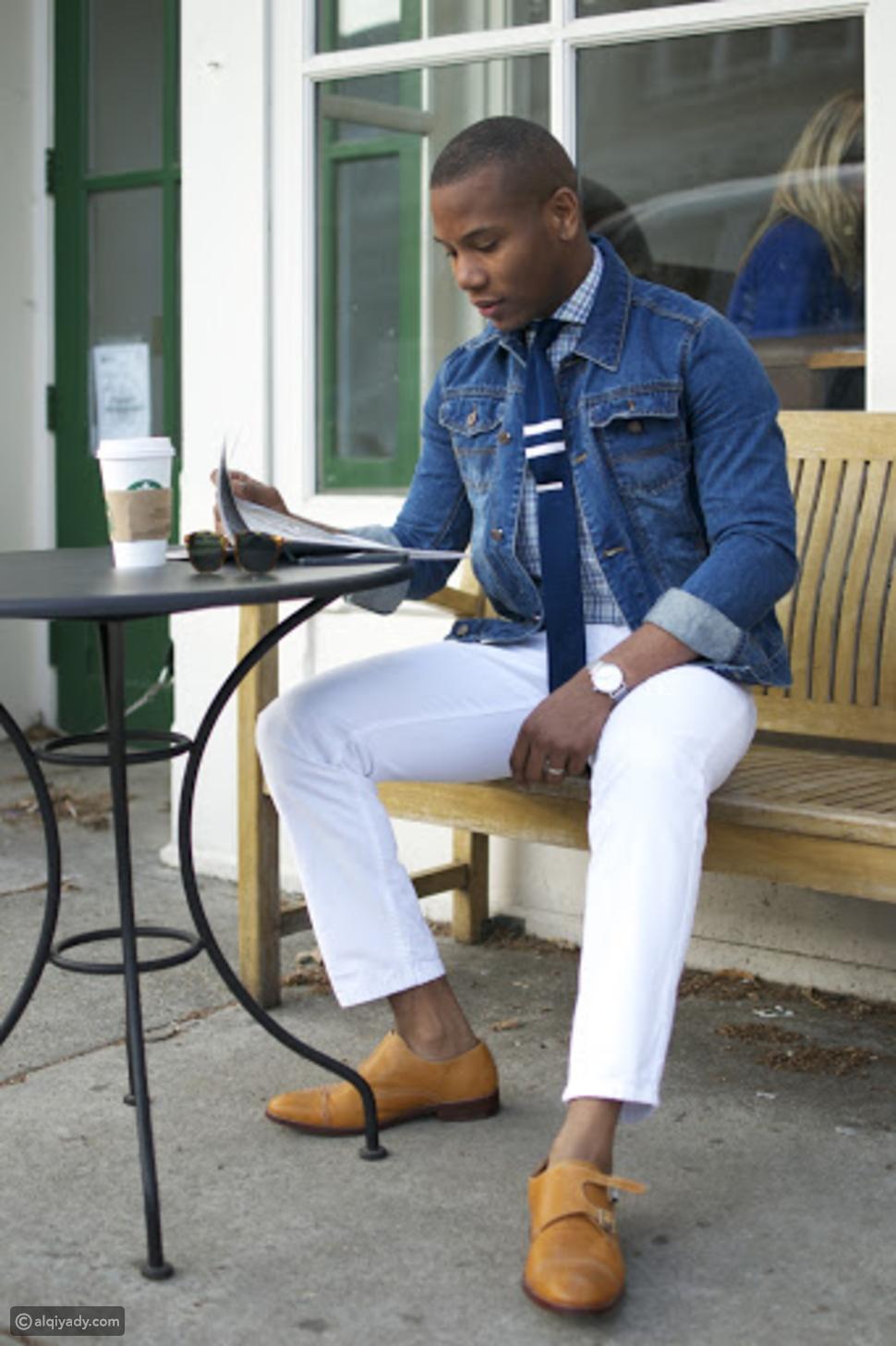 كيف ترتدي الجينز الأبيض ببساطة في الصيف؟