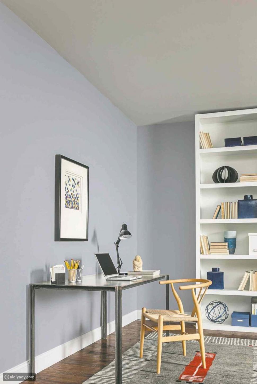 ألوان المكتب المنزلي لتعزيز الإنتاجية