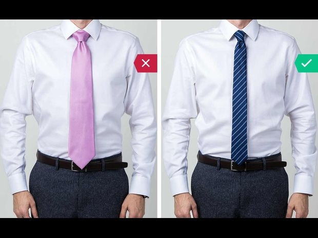 اختر شكل ربطة العنق الذي يتناسب مع جسدك