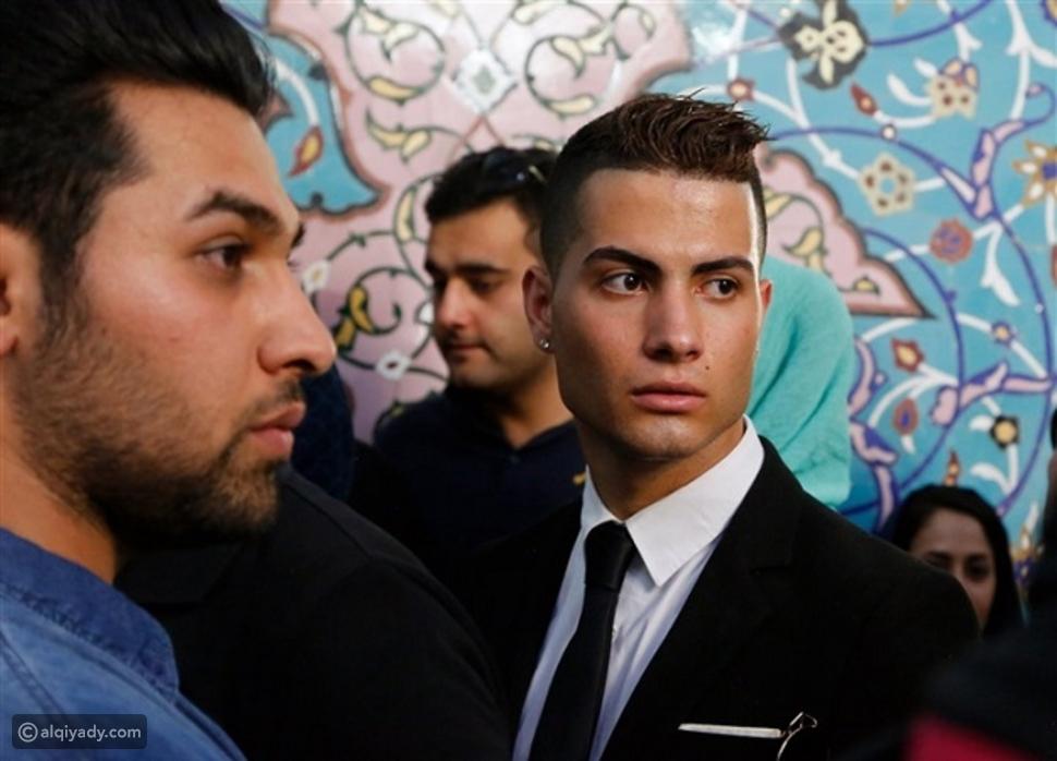صور: شبيه كريستيانو رونالدو يظهر في إيران.. تعرفوا عليه