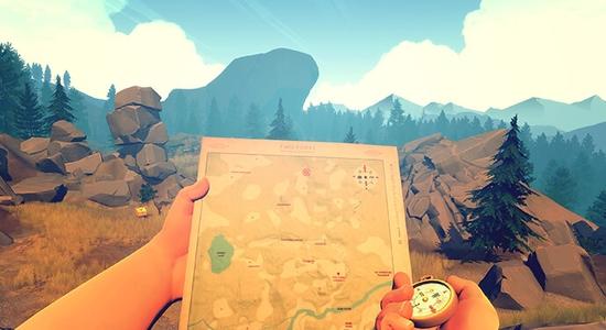 صورة من داخل لعبة فاير ووتش Firewatch