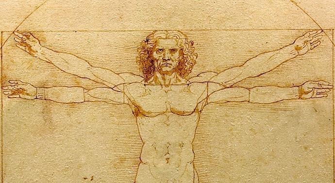 لوحة الرجل الفيتروفي (Vitruvian Man)