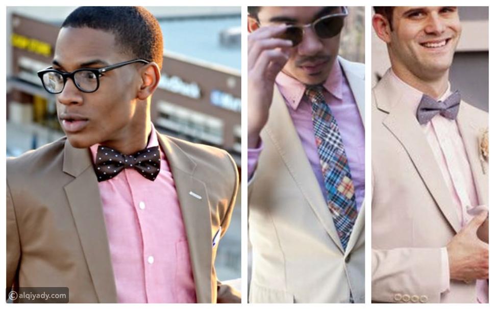 الدليل الشامل لاختيار ربطة العنق المناسبة للقميص الوردي
