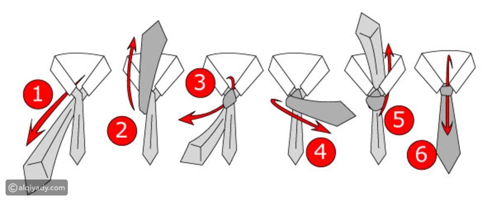 ربطة العنق: طريقة ربطها خطوة بخطوة