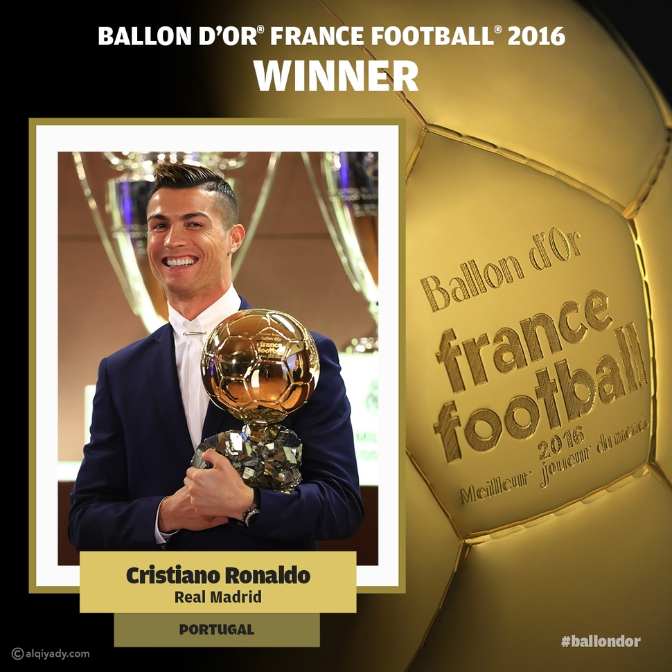 فيديو الكرة الذهبية تتوج عاماً حافلاً لكريستيانو رونالدو