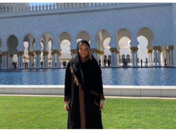 ويبدو أن آنا ماريانا زوجة  كاسيميرو كانت سعيدة بتواجدها في دبي.