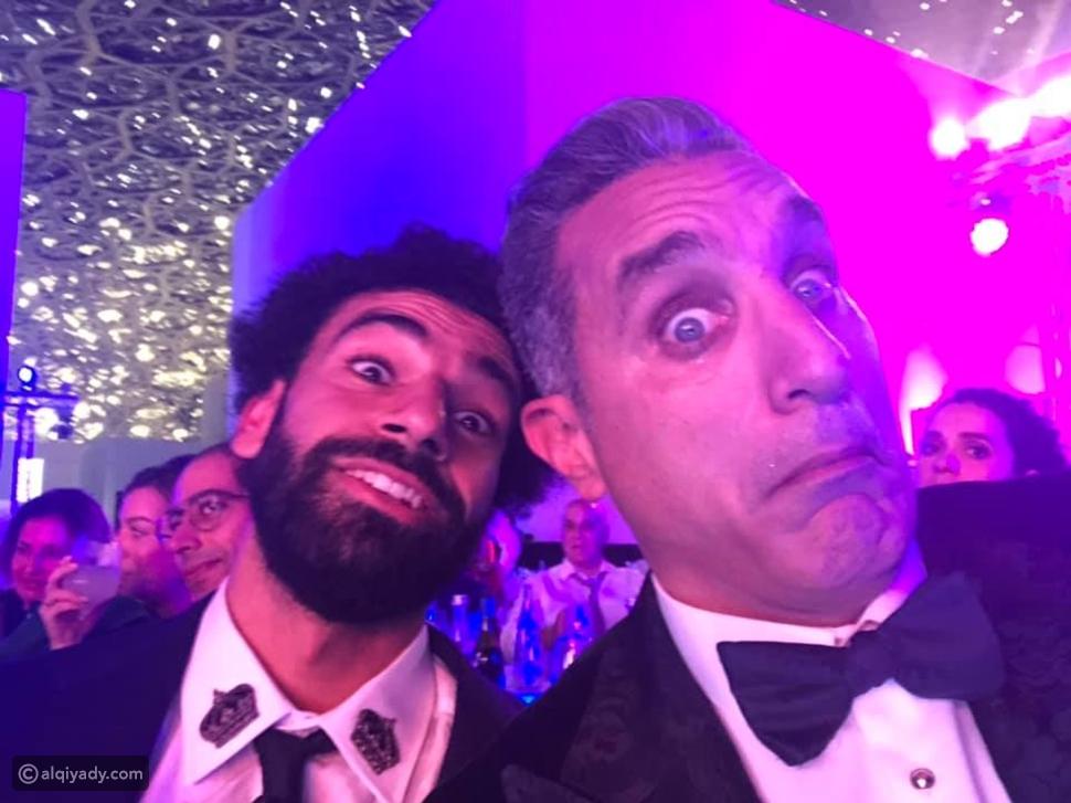 صورة طريفة تجمع بين محمد صلاح وباسم يوسف في حفل GQ