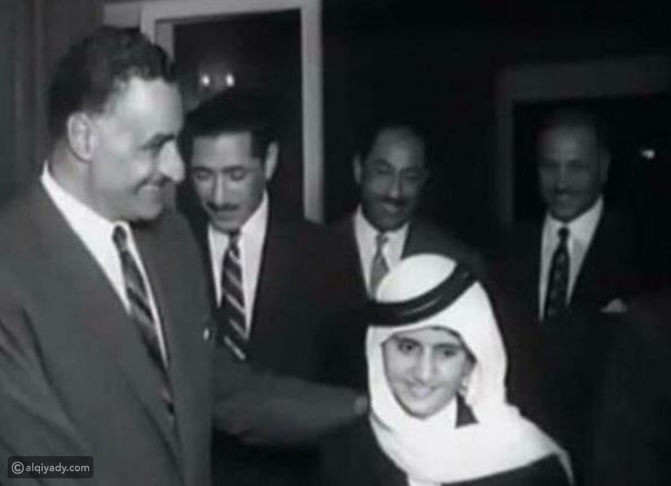 محمد بن راشد مع جمال عبدالناصر وأنور السادات