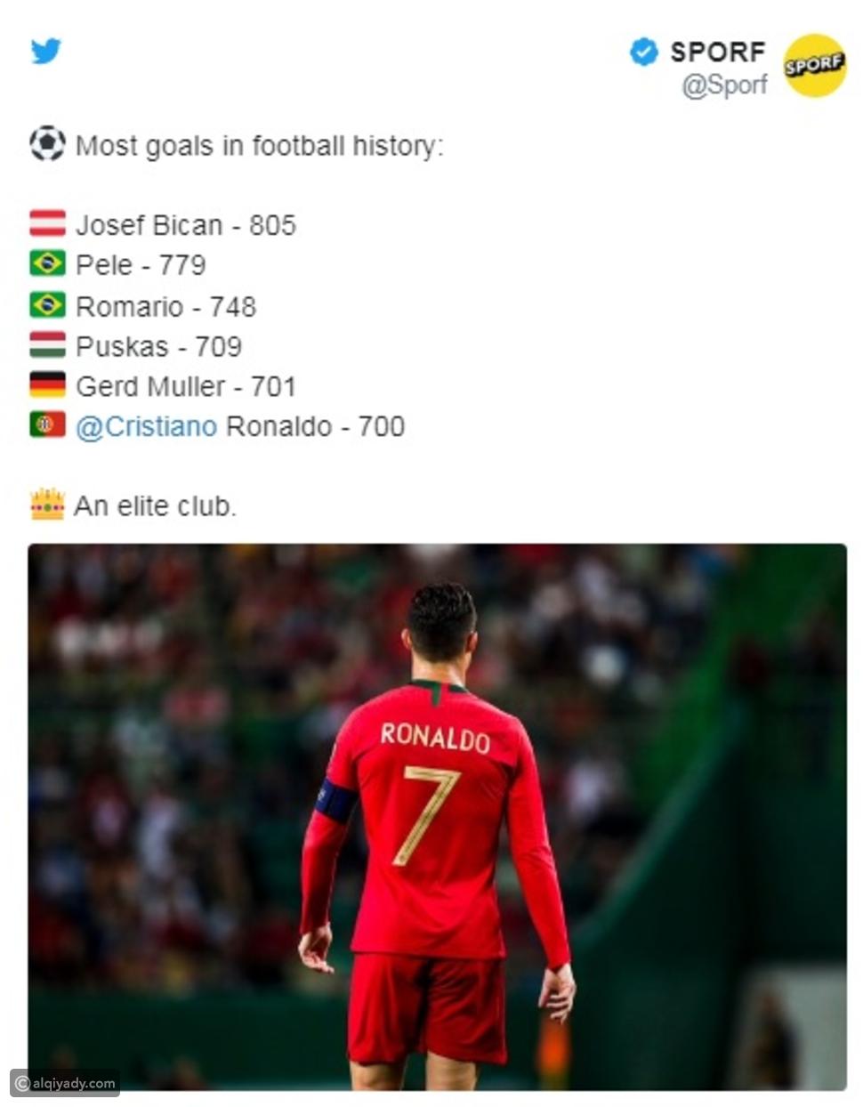 فيديو: أول تعليق لرونالدو بعد إنجازه التاريخي ووصوله إلى الهدف رقم 700