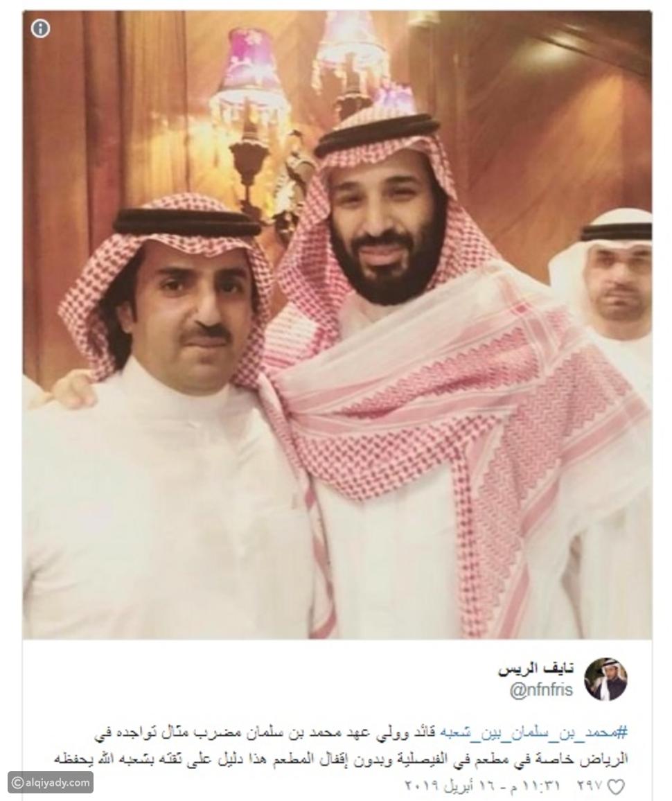 شاهد: محمد بن سلمان يصطحب محمد بن زايد لمطعم في الرياض