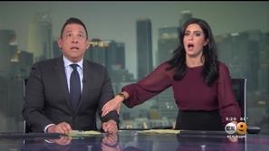 فيديو: رد فعل مذيعان على الهواء لحظة وقوع زلزال