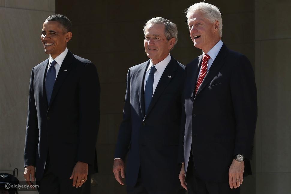أمام الكاميرا إجراء غير مسبوق يجمع 3 رؤساء أمريكيون سابقون: ماذا حدث؟