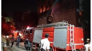 بالفيديو: اللحظات الأولى لحريق كنيسة الأنبا بولا المصرية
