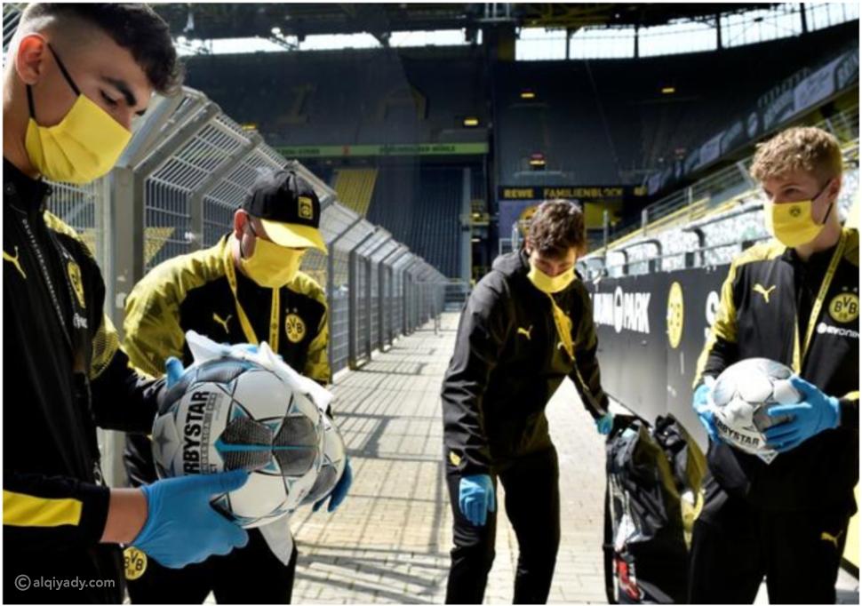 فيديو وصور:لاعبو الدوري الألماني يلتزمون بالإجراءات الوقائية ضد كورونا