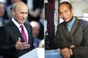 الرئيس الروسي فلاديمير بوتين وشبيهه