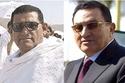 الرئيس المصري السابق حسني مبارك وشبيهه