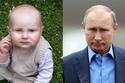 يشبه هذا الطفل الرئيس الروسي، فلاديمير بوتين