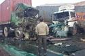 صور وفيديو لأسوأ حادث في تاريخ مصر..اصطدام 50 سيارة وشاحنة