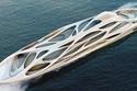 """جاز يخت Jazz Yacht: قام بتصميمه """"زاها هاديد""""، وتم بناؤه بواسطة """"بلوهم وفوس"""" ويبلغ طوله 295 قدم، وتم طرحه بسعر 38.5 مليون دولار."""