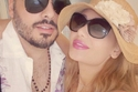 المغني رامي عيّاش وزوجته داليدا.