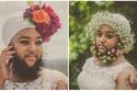 صور عروس ملتحية.. تشعر بالأنوثة أكثر وتتحدى الجمال المعتاد!