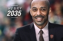 ثيري هنري والتوقع بأنه سيصبح مدير نادي أرسنال عام 2035