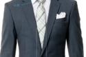 تساوي عرض ربطة العنق مع ياقة البدلة