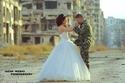 صور رائعة لحفل زفاف ضابط سوري بين أنقاض الحرب