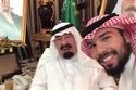 خادم الحرمين الشريفين مع حفيده الأمير بدر