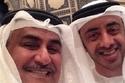 وزير الخارجية البحريني الشيخ خالد بن أحمد آل خليفة، مع وزير الخارجية الإماراتي الشيخ عبدالله بن زايد آل نهيان