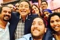 الإعلامي محمود سعيد مع فريق عمله