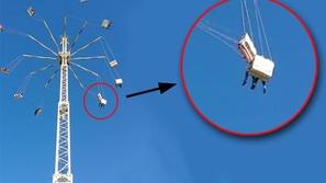 بالفيديو: لحظات مرعبة لاصطدام عربتي ملاهي ببعصهما على ارتفاع 2000 قدم