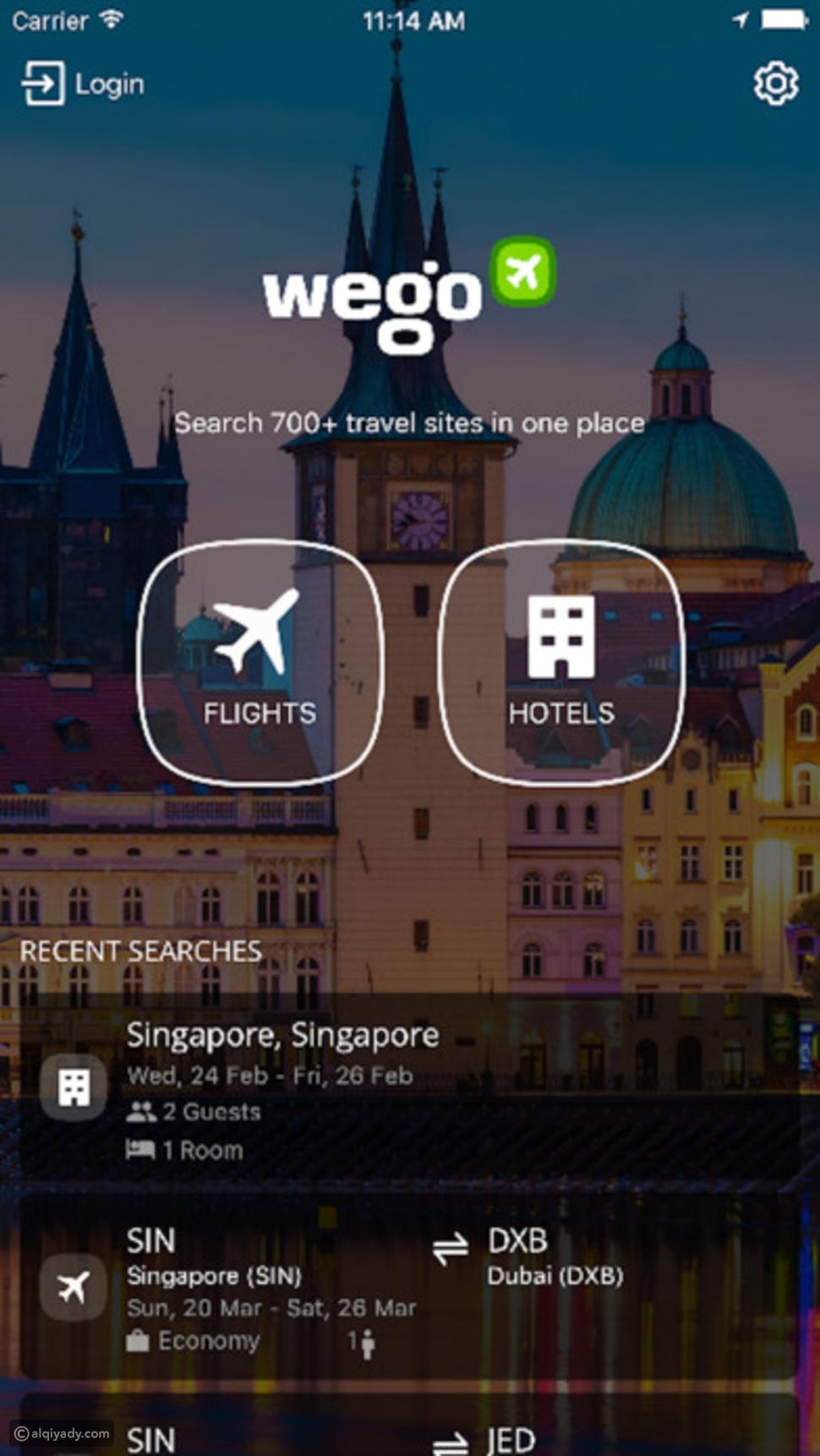 تطبيق Wego – دليلك للحصول على أفضل رحلة – للأيفون والأندرويد
